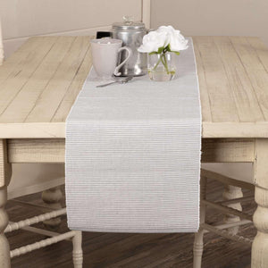 Ashton Grey Ribbed Runner 13x72 VHC Brands