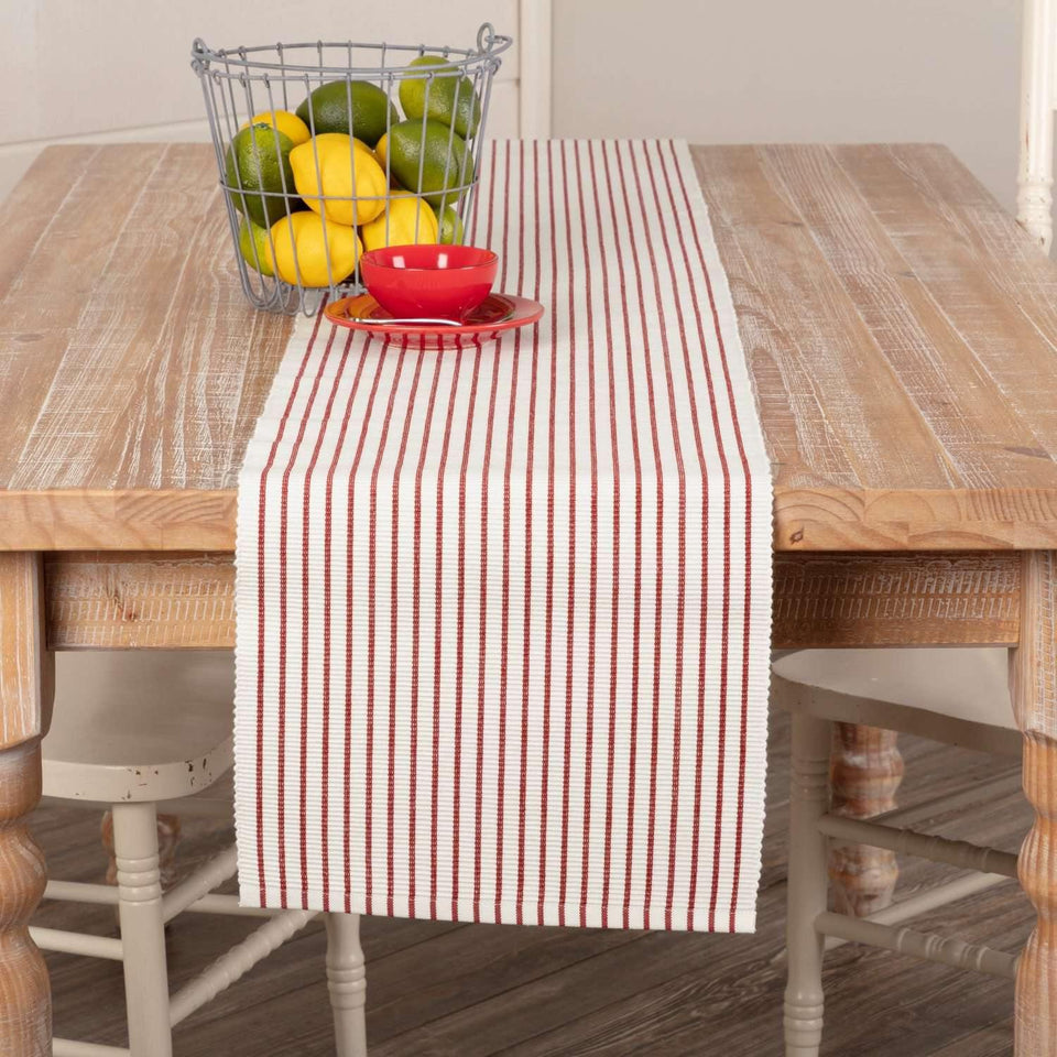 Audrey Red Ribbed Runner 13x90 VHC Brands
