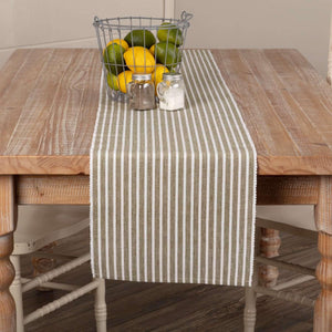 Harmony Olive Ribbed Runner 13x72 VHC Brands