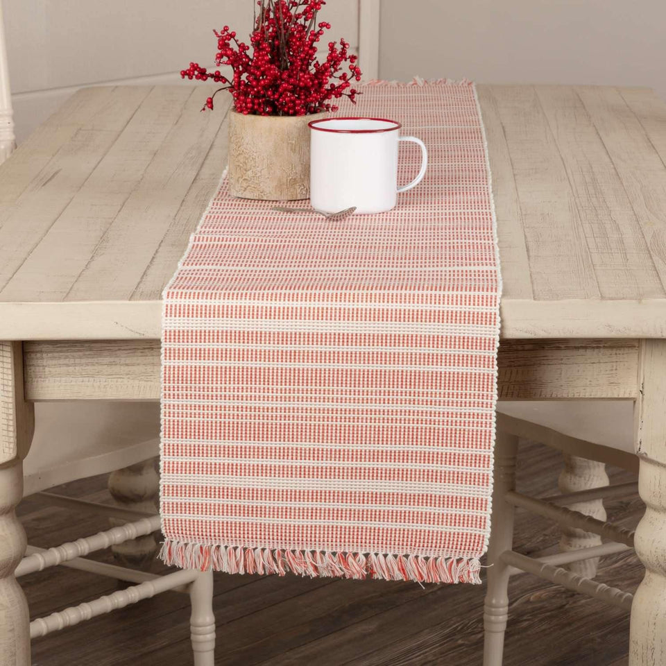 Madeline Red Ribbed Runner 13x72 VHC Brands