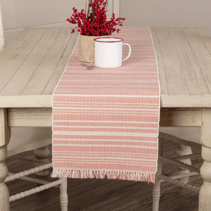 Madeline Red Ribbed Runner 13x90 VHC Brands