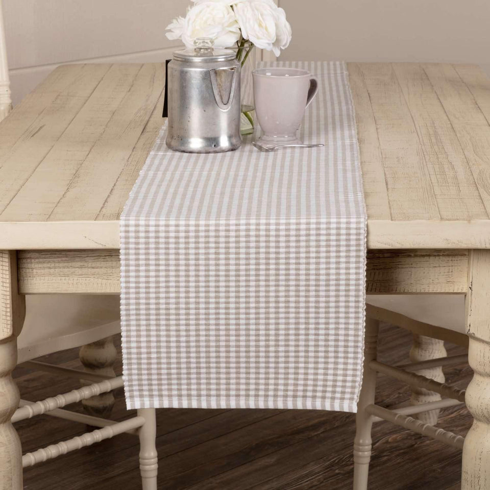 Tara Grey Ribbed Runner 13x90 VHC Brands