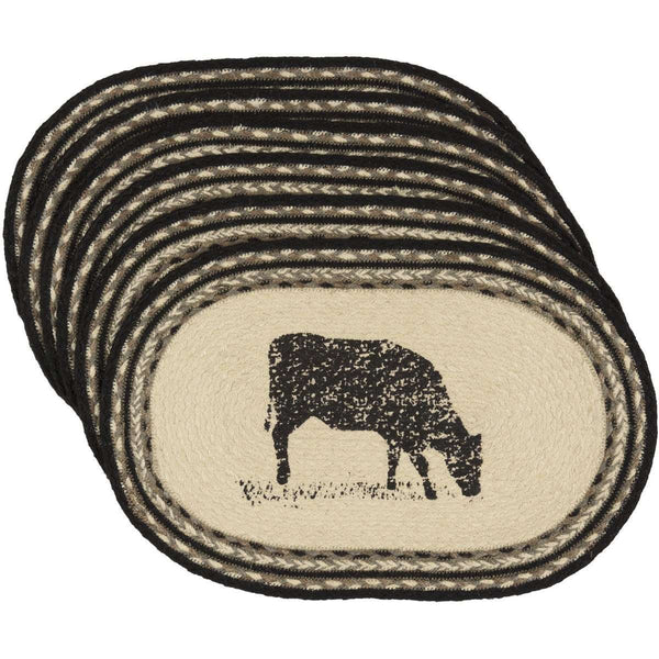Sawyer Mill Cow Jute Braided Placemat back