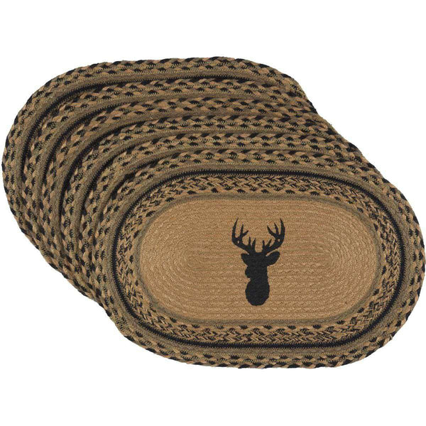 Trophy Mount Jute Braided Placemats Set of 6 - The Fox Decor