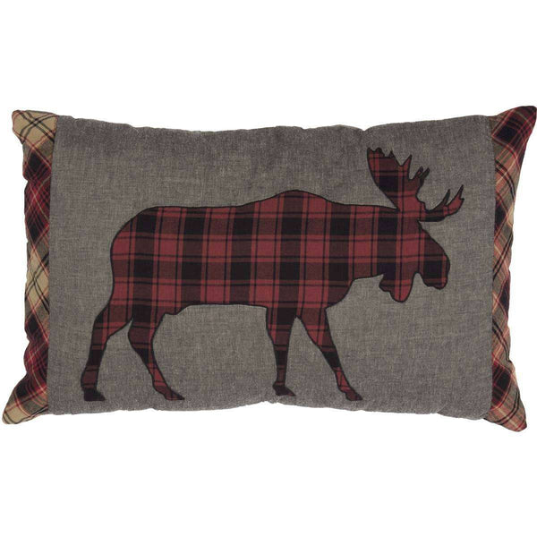 "Cumberland Moose Applique Pillow 14""x22"" - The Fox Decor"