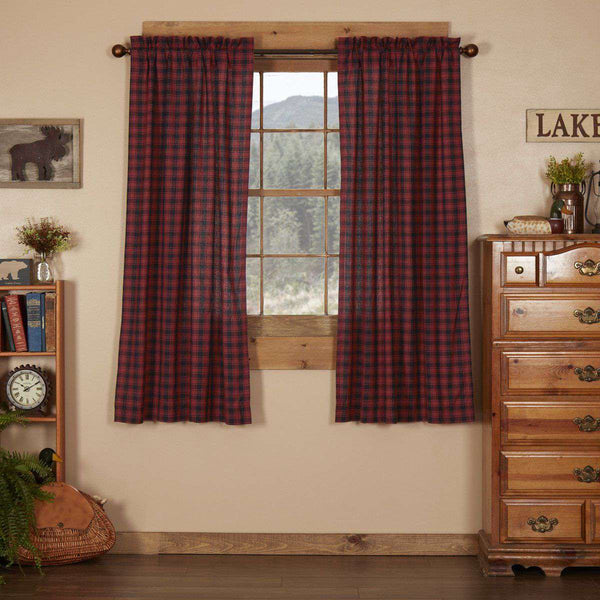 Cumberland Short Panel Country Curtain Set of 2 63x36 - The Fox Decor