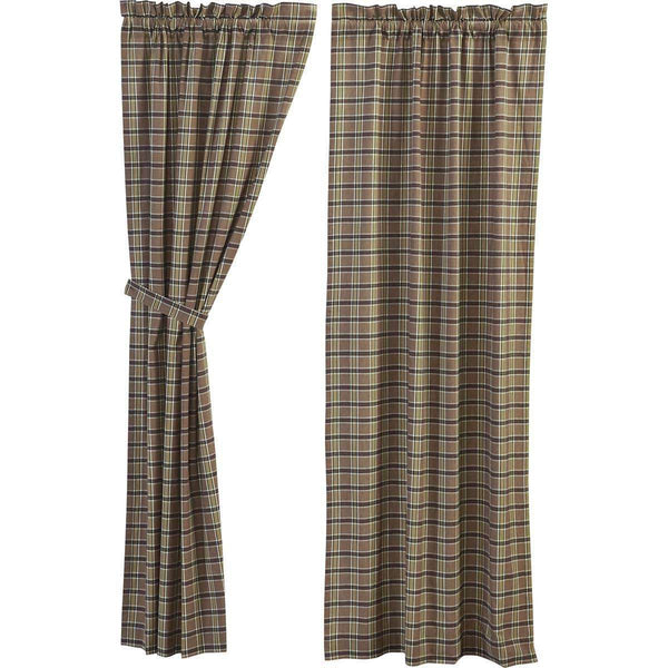 "Wyatt Panel Country Style Curtain Set of 2 84""x40"" - The Fox Decor"