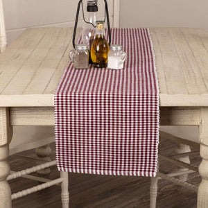 Tara Burgundy Ribbed Runner 13x90 VHC Brands