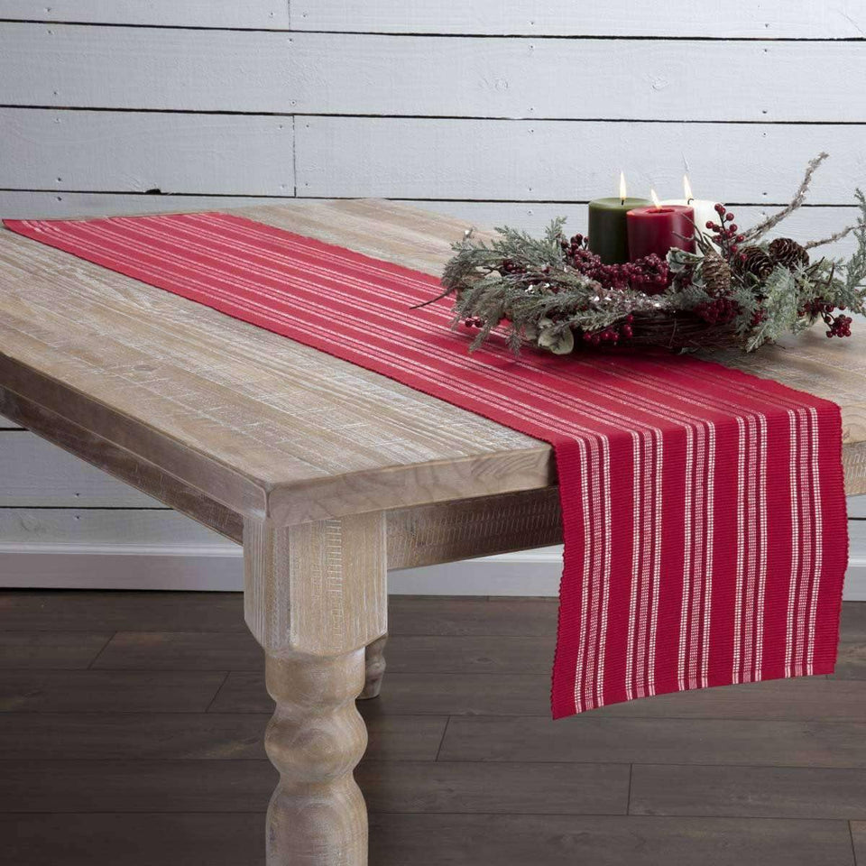 Holly Red Ribbed Runner 13x72 VHC Brands