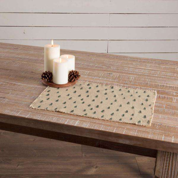 Vintage Burlap Tree Cotton Placemat back