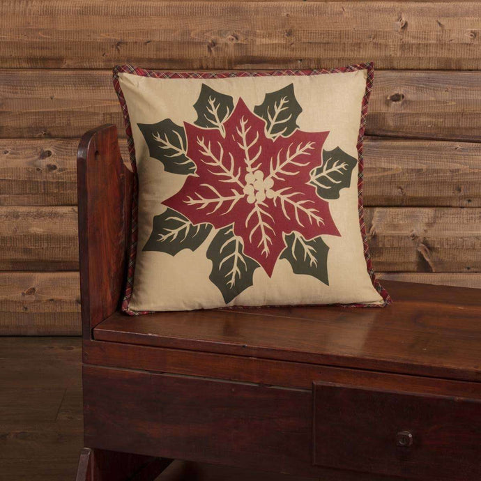 National Quilt Museum Poinsettia Block Pillow 18