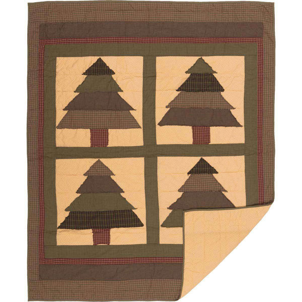 "Sequoia Quilted Throw 60"" x 50"" VHC Brands - The Fox Decor"