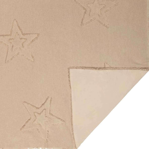 "Burlap Vintage Star Woven Throw 60"" x 50"" VHC Brands - The Fox Decor"