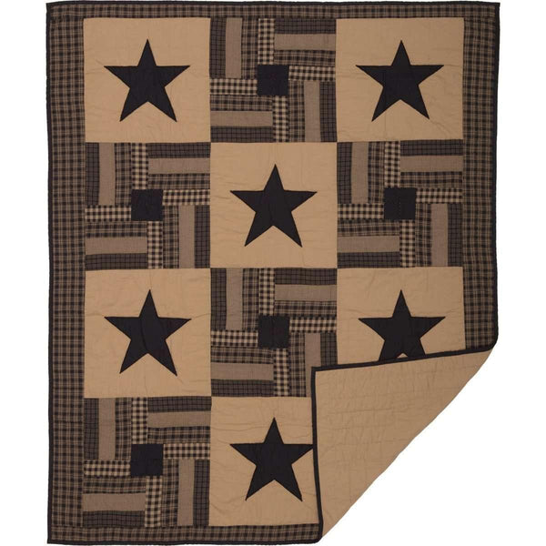 Black Check Star Quilted Throw 60x50 VHC Brands online