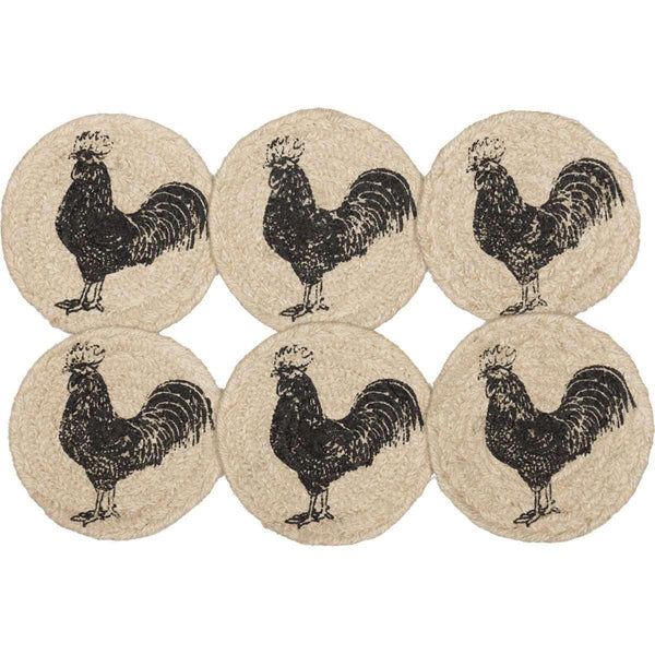 Sawyer Mill Charcoal Poultry Jute Coaster