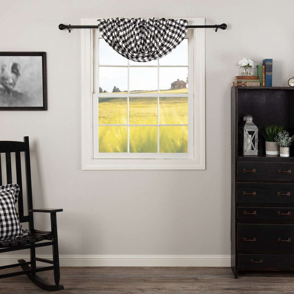 Annie Buffalo Check Balloon Valance Black online
