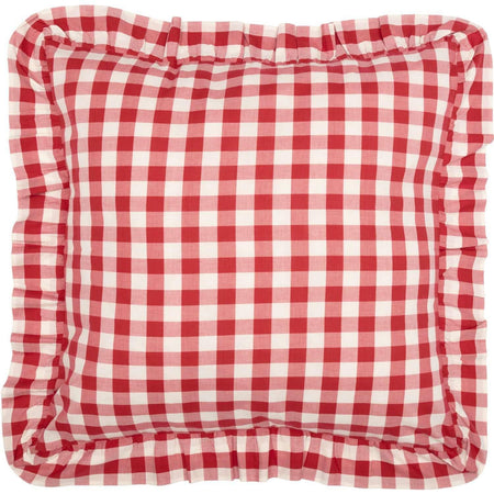 Annie Buffalo Red Check Fabric Euro Sham 26x26 VHC Brands