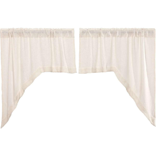 Burlap Antique White Swag Curtain Set of 2 36x36x16 VHC Brands
