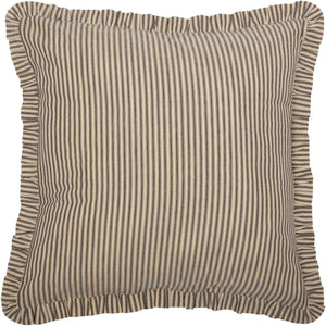 Sawyer Mill Charcoal Ticking Stripe Fabric Euro Sham 26x26 VHC Brands