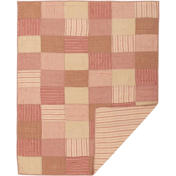 Sawyer Mill Red Block Quilted Throw