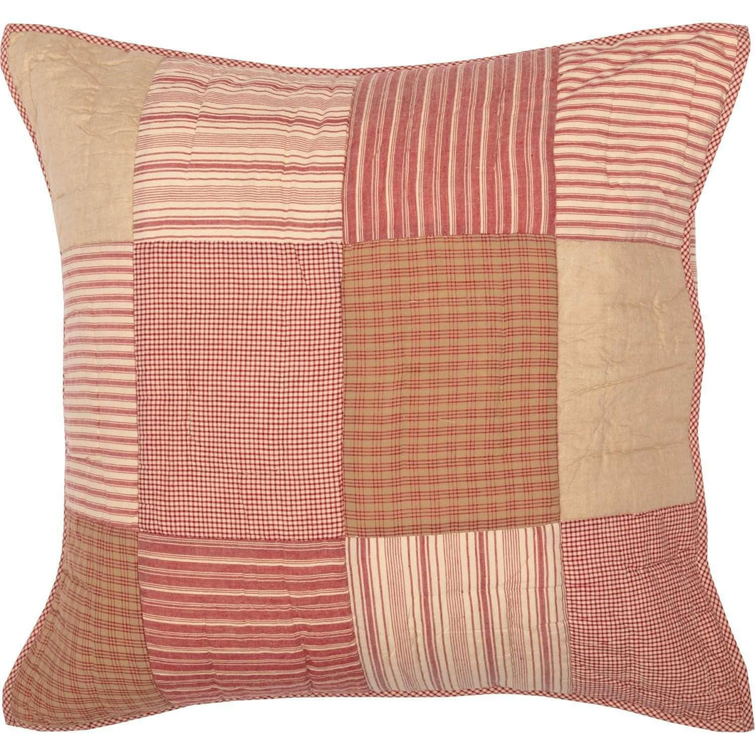 Sawyer Mill Red Quilted Euro Sham 26x26 VHC Brands