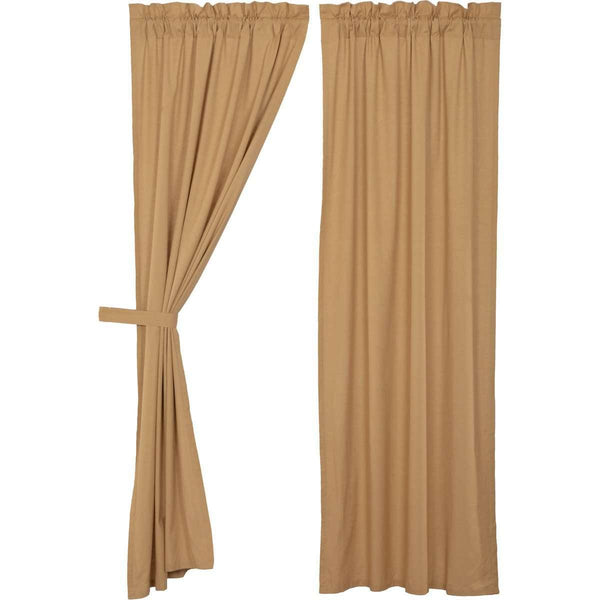 Simple Life Flax Khaki Panel Curtain Set of 2 84x40 VHC Brands