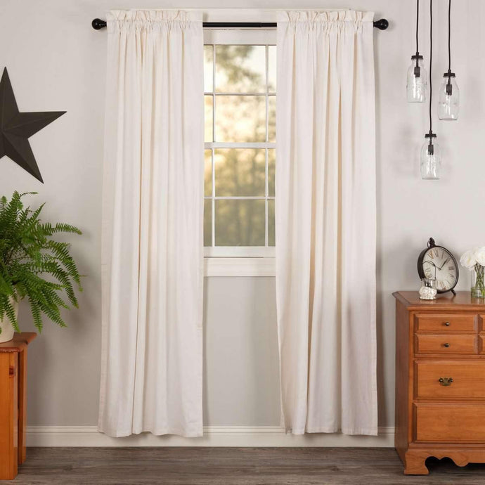 Simple Life Flax Antique White Panel Curtain Set of 2 84x40 VHC Brands