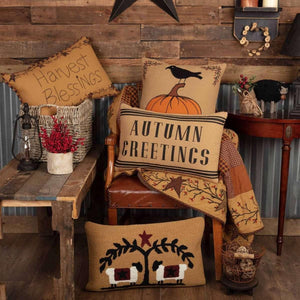 Heritage Farms Autumn Greetings Pillow 14x22 VHC Brands online