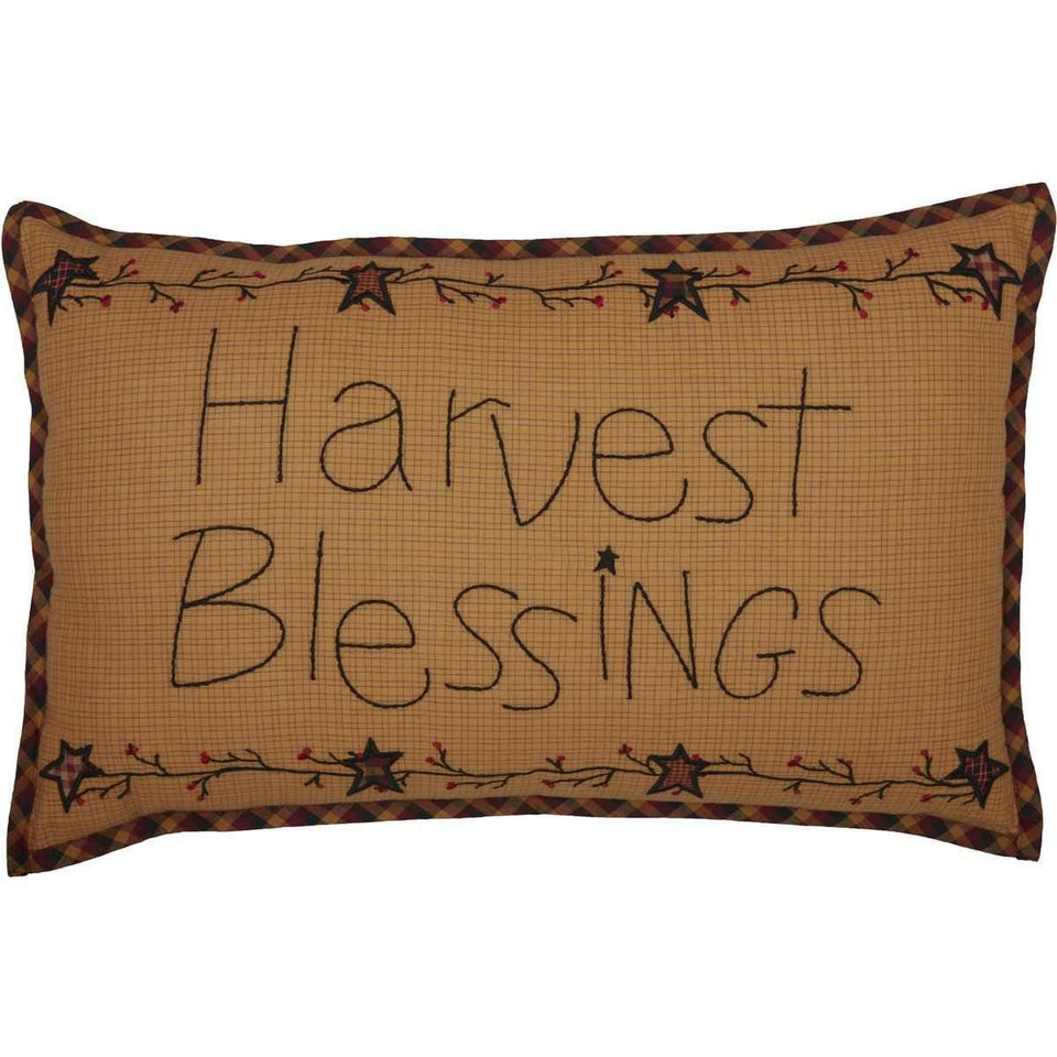 HERITAGE FARMS HARVEST BLESSINGS PILLOW 14X22 front
