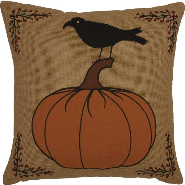 Heritage Farms Pumpkin and Crow Pillow 18x18 VHC Brands online
