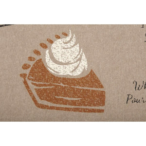 Sawyer Mill Charcoal Pumpkin Pie Recipe Pillow 14x22 VHC Brands zoom