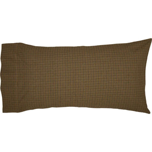 Tea Cabin Green Plaid King Pillow Case Set of 2 21x40 VHC Brands