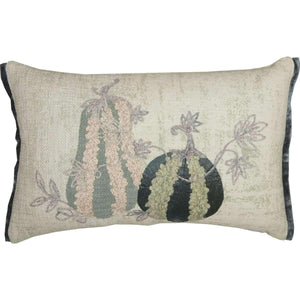 Embroidered Gourd Pillow 14x22 VHC Brands