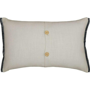 Embroidered Gourd Pillow 14x22 VHC Brands back