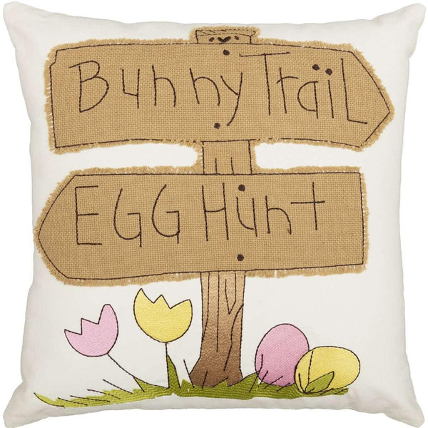 Bunny Trail Pillow 18x18
