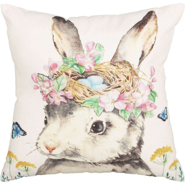 "Easter Bunny Whimsy Pillow 18"" - The Fox Decor"