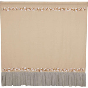 "Ashmont Cotton Shower Curtain 72""x72"" VHC Brands"