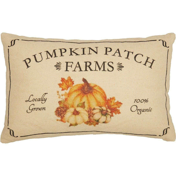 Fall on the Farm Pumpkin Patch Pillow 14x22 VHC Brands zoom