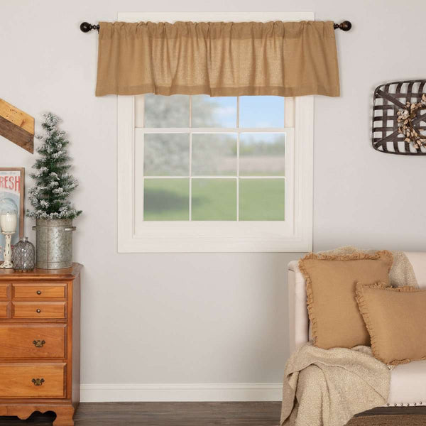 Burlap Valance Curtains Natural