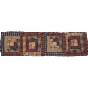 Millsboro Runner Log Cabin Block Quilted 13x48 VHC Brands