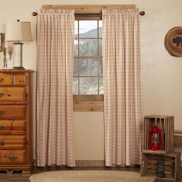 "Tacoma Panel Country Style Curtain Set of 2 84""x40"" - The Fox Decor"