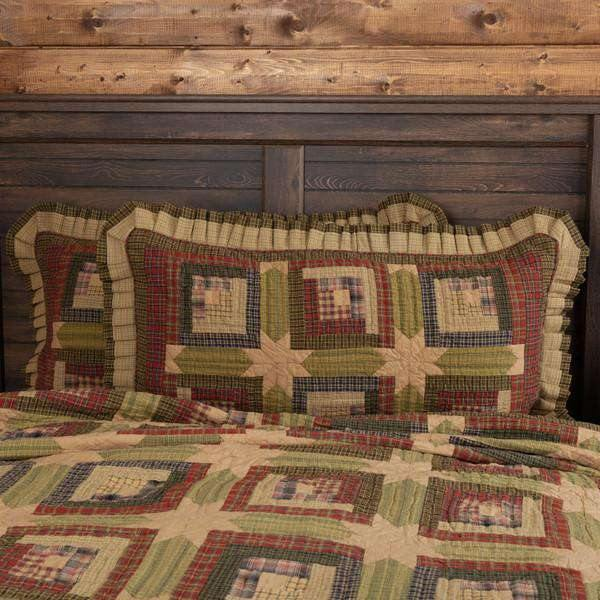 Tea Cabin King Sham 21x37 VHC Brands