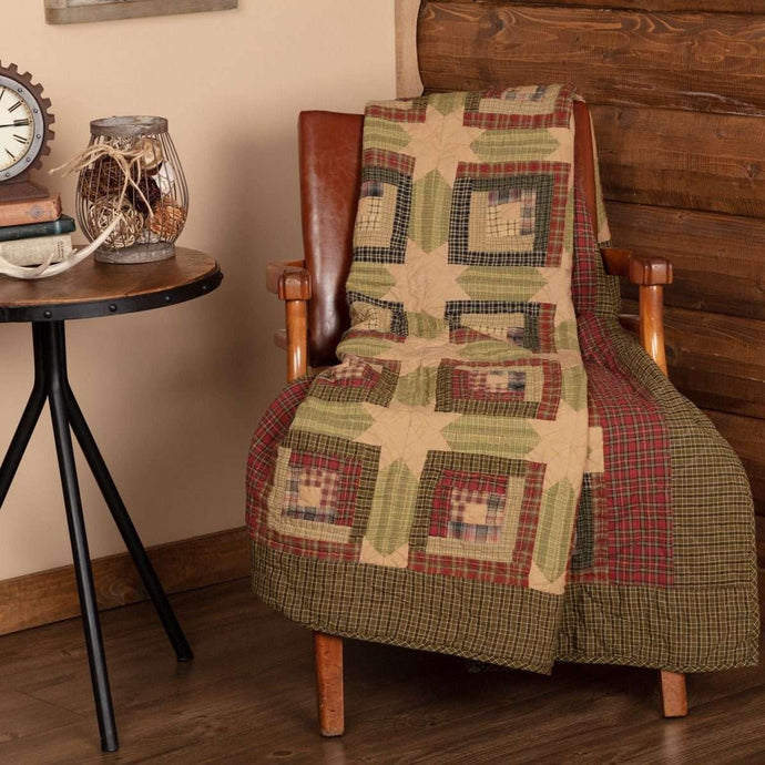 Tea Cabin Throw Quilted 60x50 VHC Brands