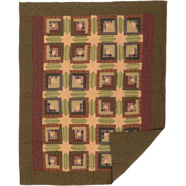 shop Tea Cabin Throw Quilted 60x50 VHC Brands