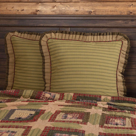 Tea Cabin Euro Sham Fabric Ruffled 26x26