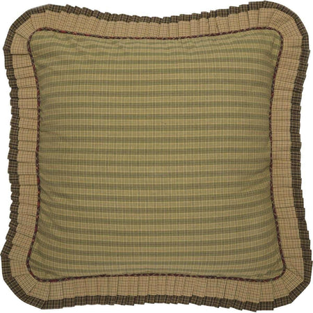Tea Cabin Euro Sham Fabric Ruffled 26x26 VHC Brands