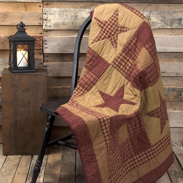 Ninepatch Star Quilted Throw 60x50  VHC Brands