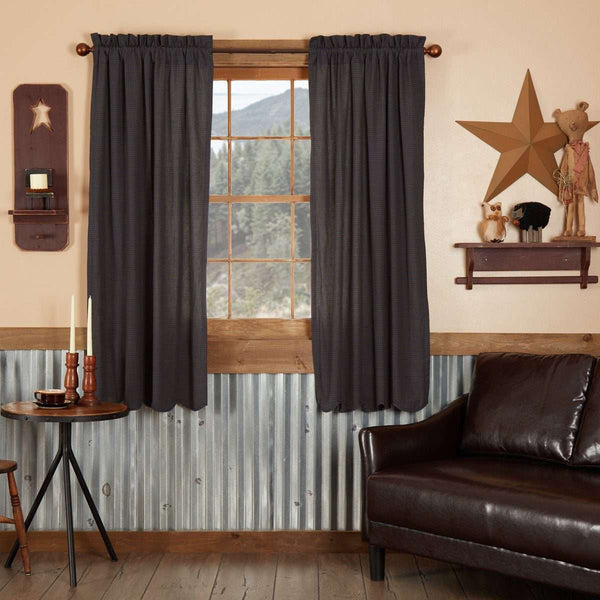 "Arlington Short Panel Curtain Scalloped Set of 2 63""x36"" VHC Brands - The Fox Decor"