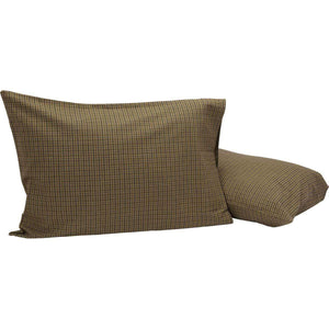 Tea Cabin Green Plaid Standard Pillow Case Set of 2 21x30 VHC Brands