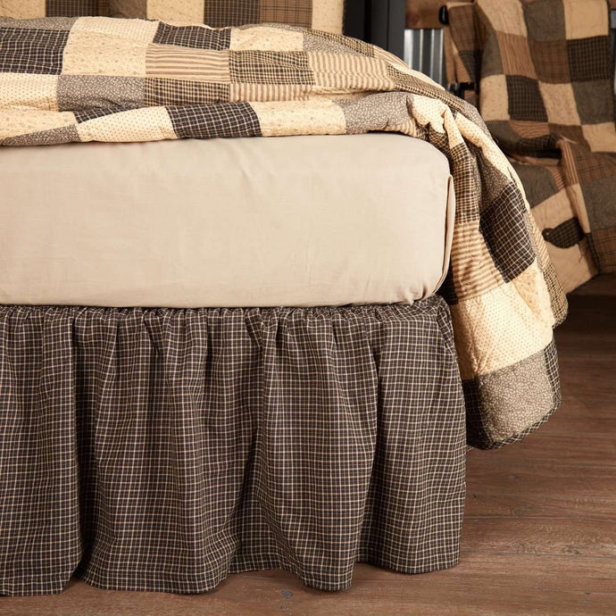 Kettle Grove Bed Skirts Country Black, Khaki VHC Brands - The Fox Decor